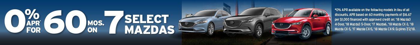 New Mazda Promo banner