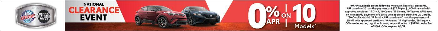 0% APR Toyota