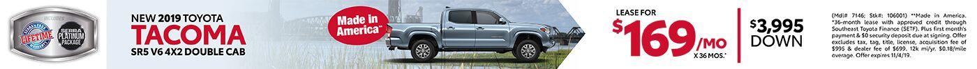 New 2019 Toyota Tacoma SR5 V6 4x2 Double Cab