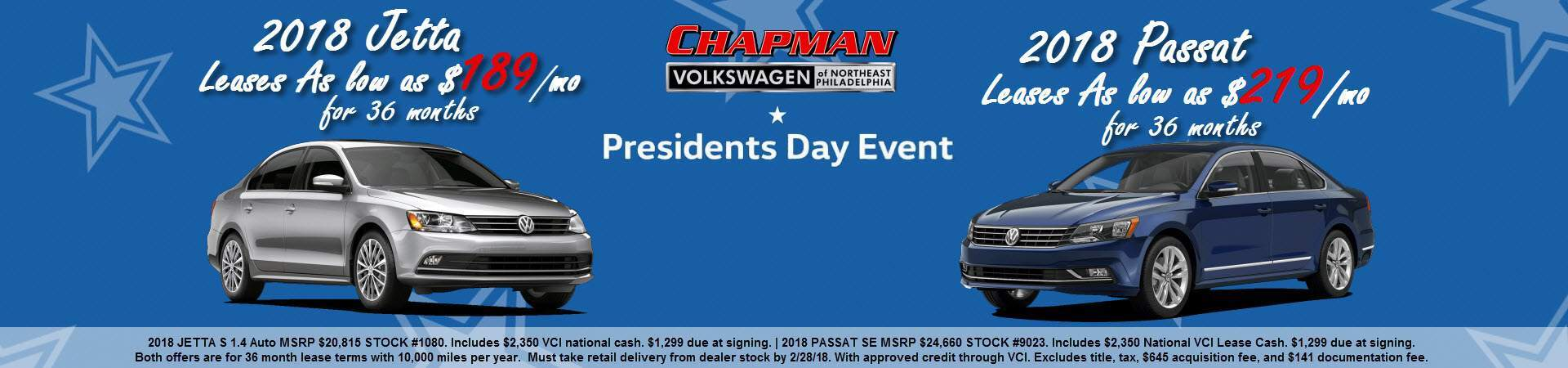 Chapman VW Presidents Day Leases