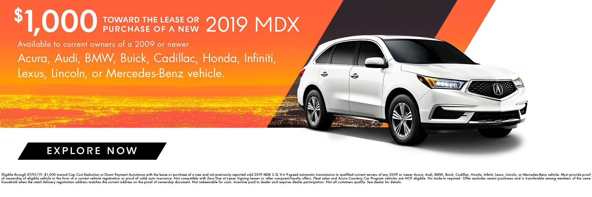 2019 MDX Incentives at Karen Radley Acura