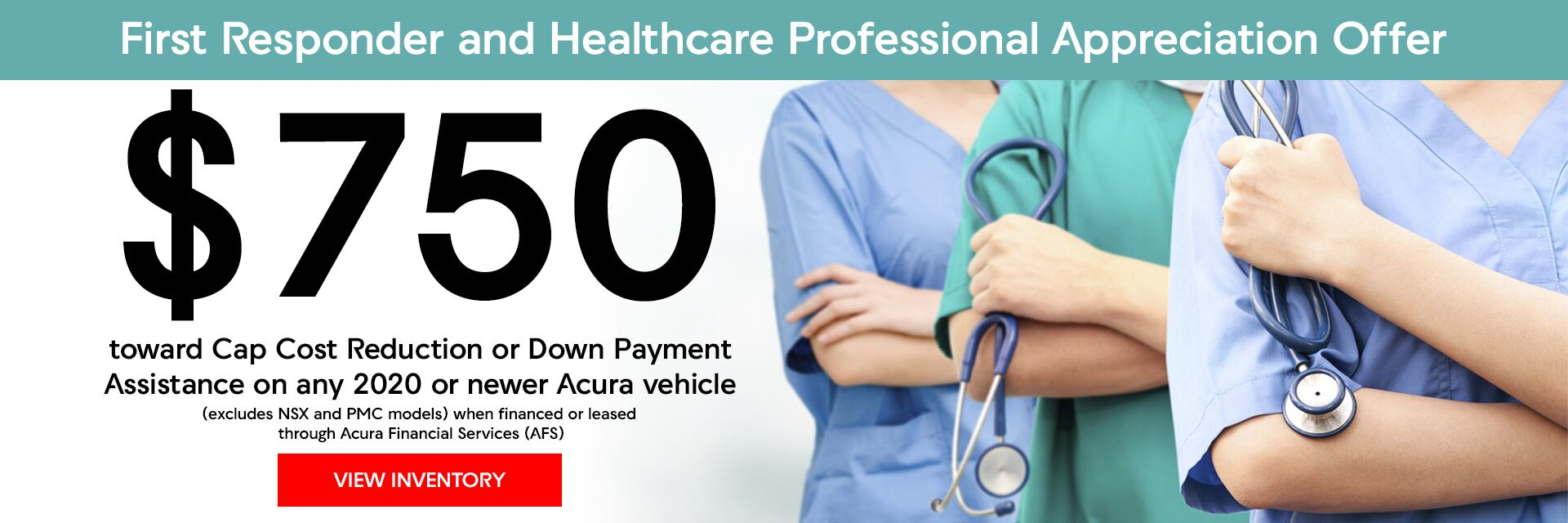 Acura First Responder & Healthcare Professional Appreciation Offer