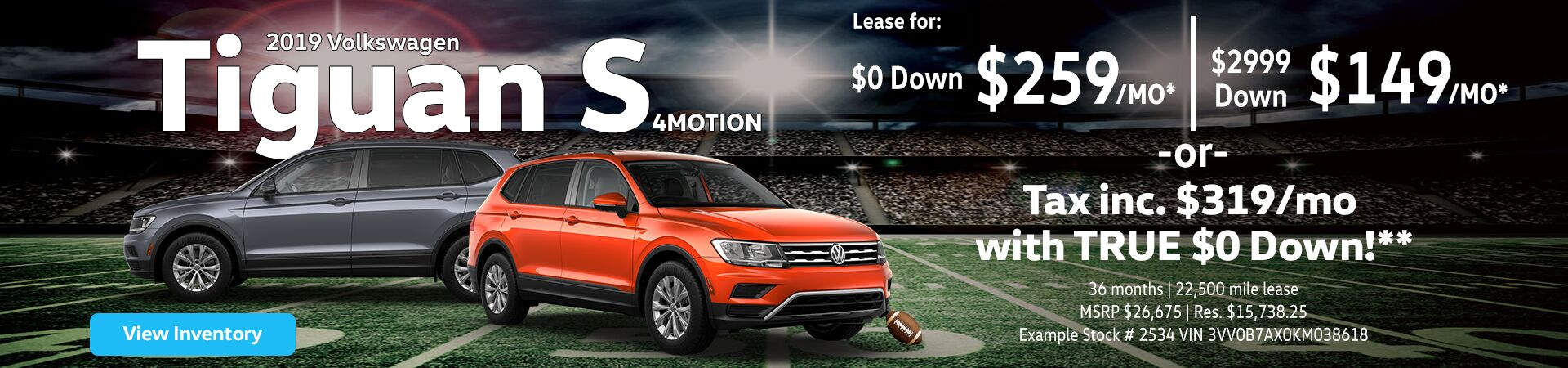 2019 Tiguan lease offers near Kingston, NY