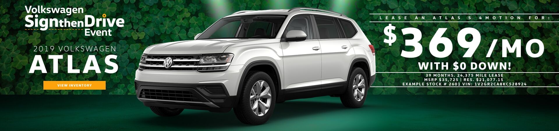 2019 Atlas Sign then Drive offer