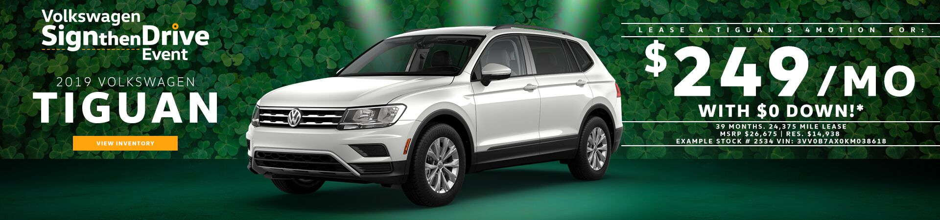 2019 Tiguan Sign then Drive offer