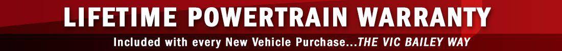 Lifetime Powertrain Warranty New Specials