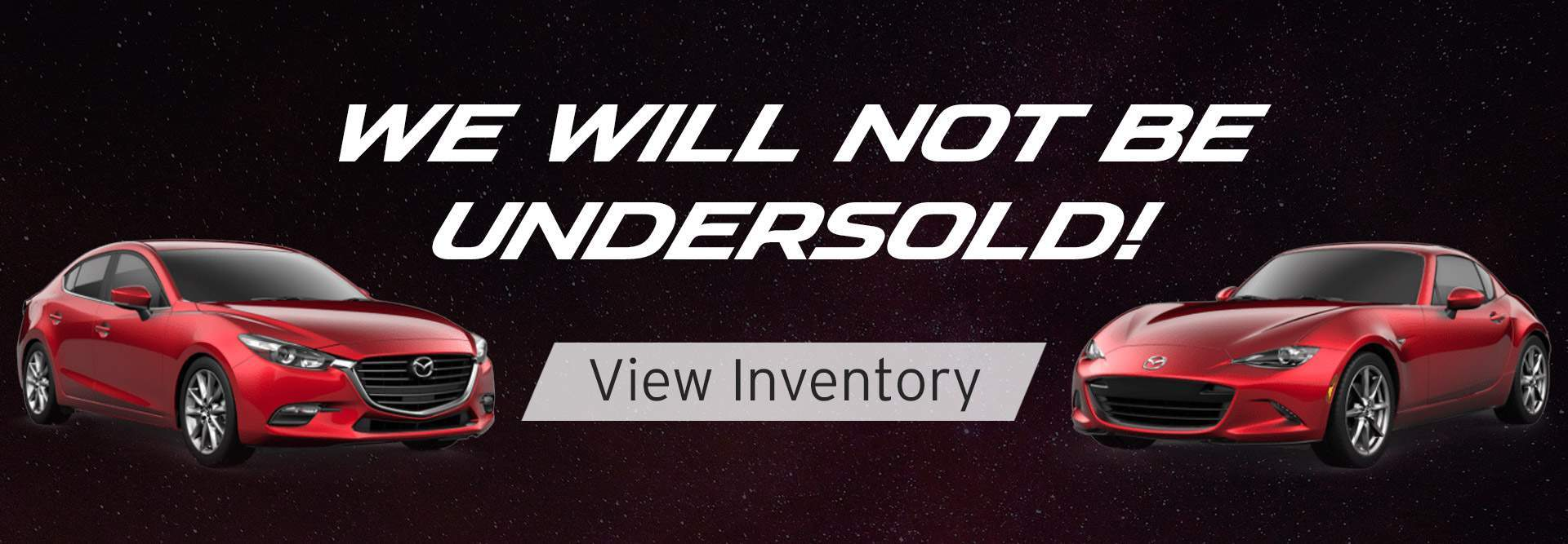 We will not be undersold