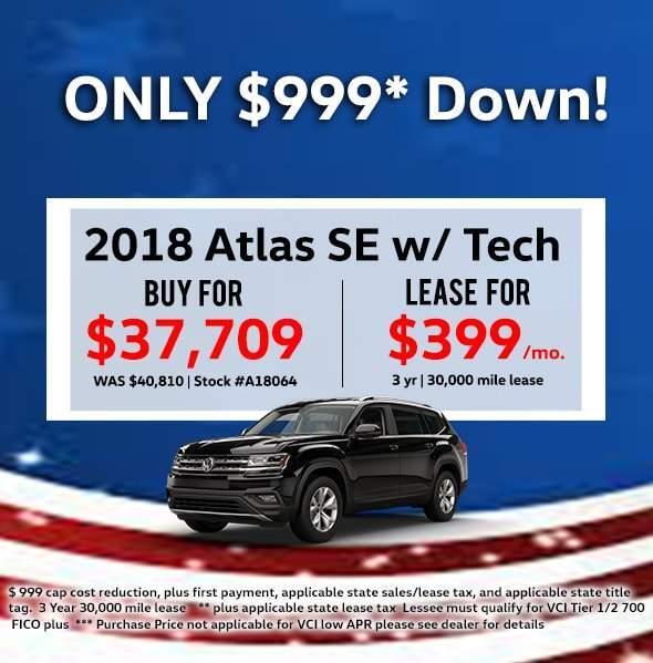 2018 Volkswagen Atlas V6 SE w/ Technology 4Motion