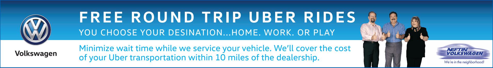 Free Round Trip Uber Rides