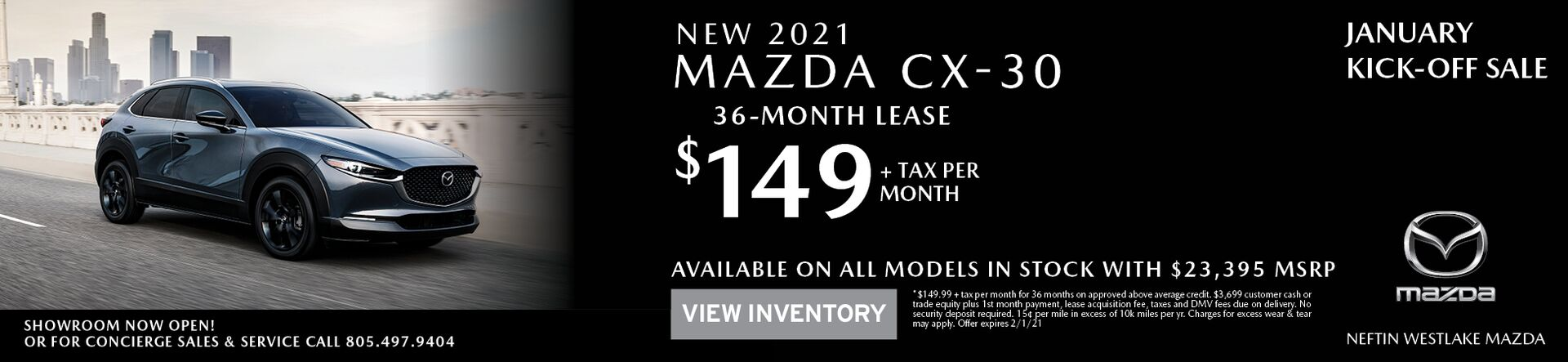 January '21 CX-30 Lease Offer