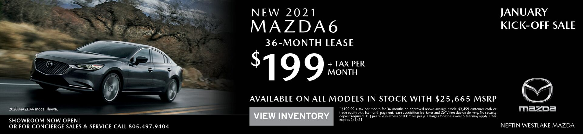January '21 Mazda6 Lease Offer