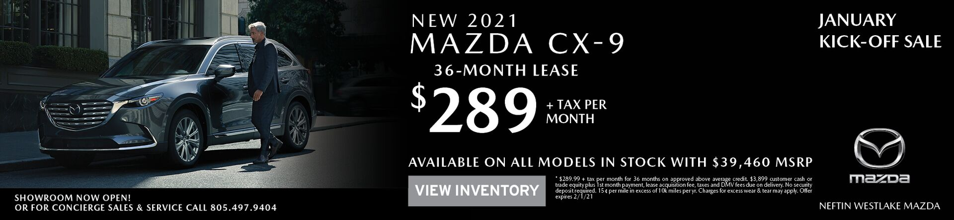January '21 CX-9 Lease Offer