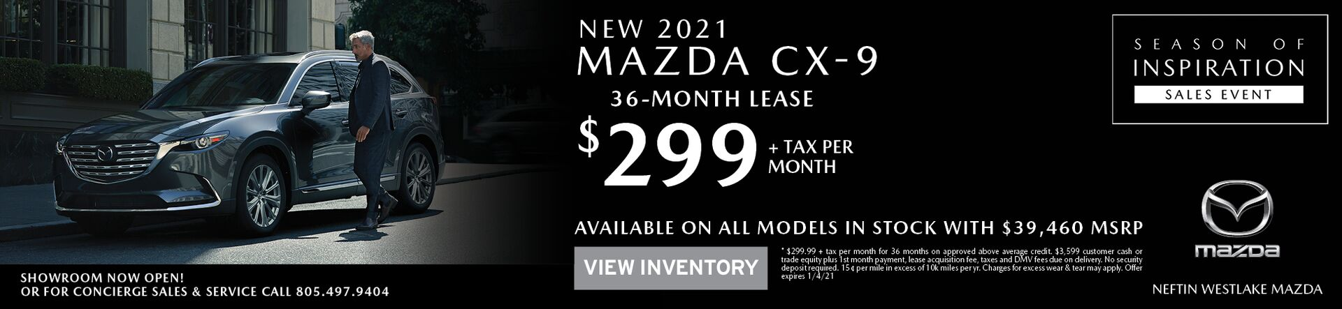 December '20 CX-9 Lease Offer