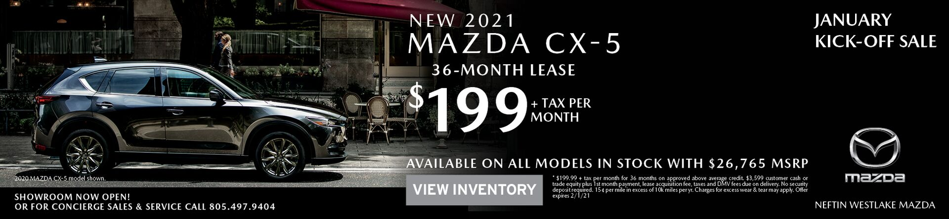January '21 CX-5 Lease Offer