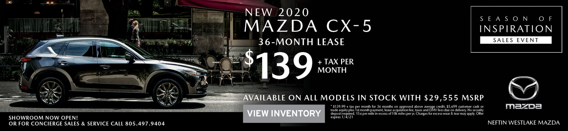 December '20 Mazda CX-5 Lease Offer