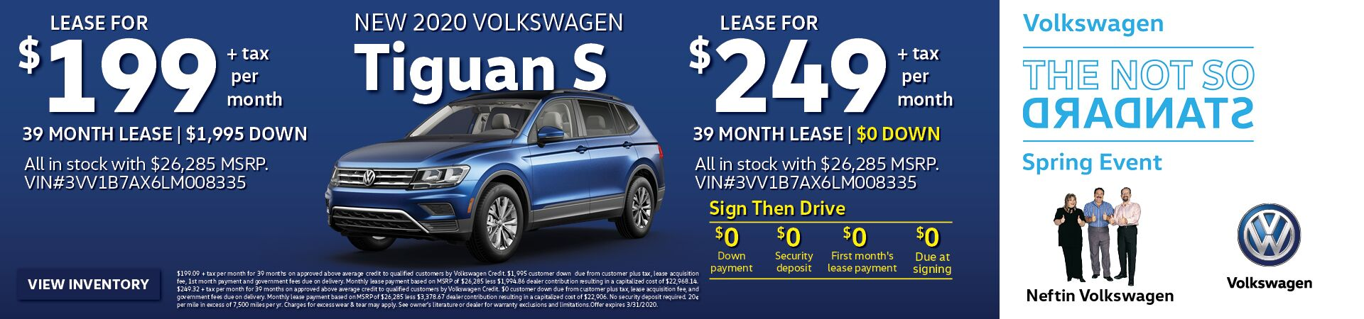 March/April '20 Tiguan Lease Offer