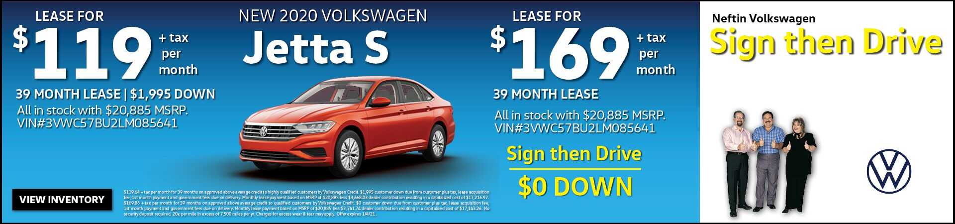 Nov. '20 Jetta S Lease Offer