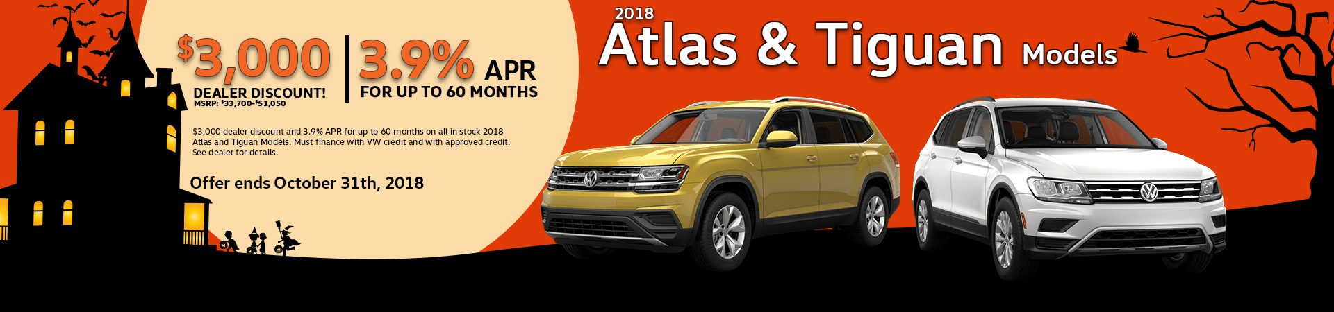 2018 Atlas and 2018 Tiguan