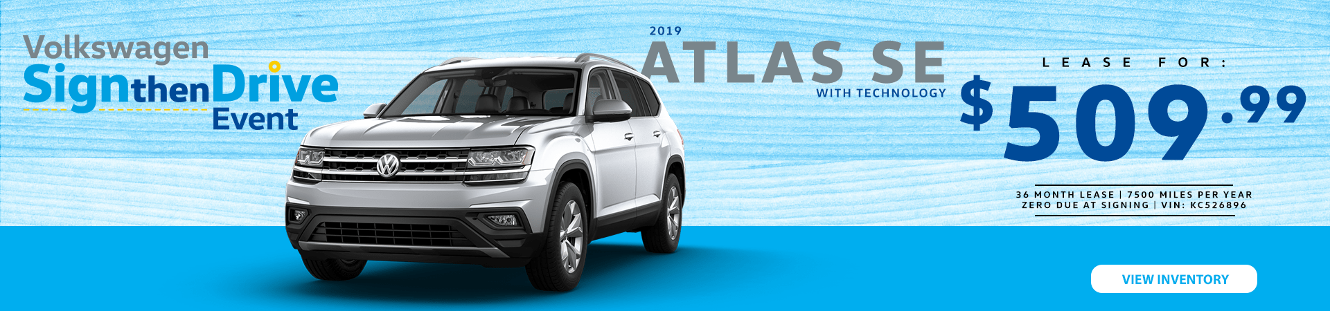 2019 Atlas SE Lease Special