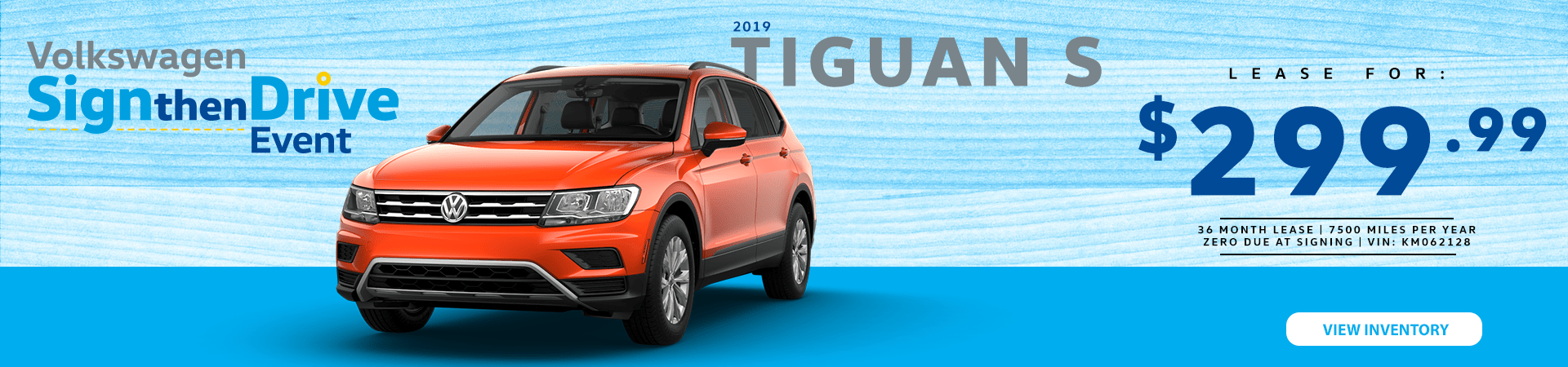 2019 Tiguan S Lease Option