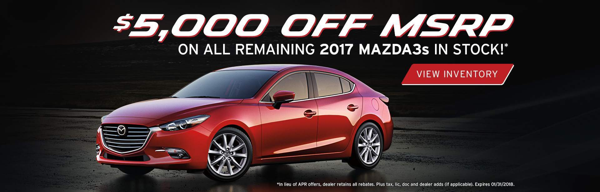 Remaining 2017 Mazda3s In Stock