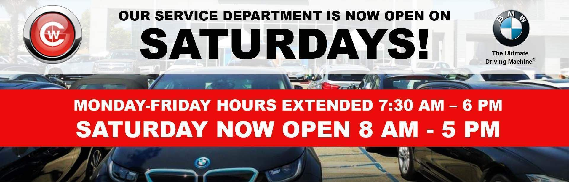 Service Open Saturdays