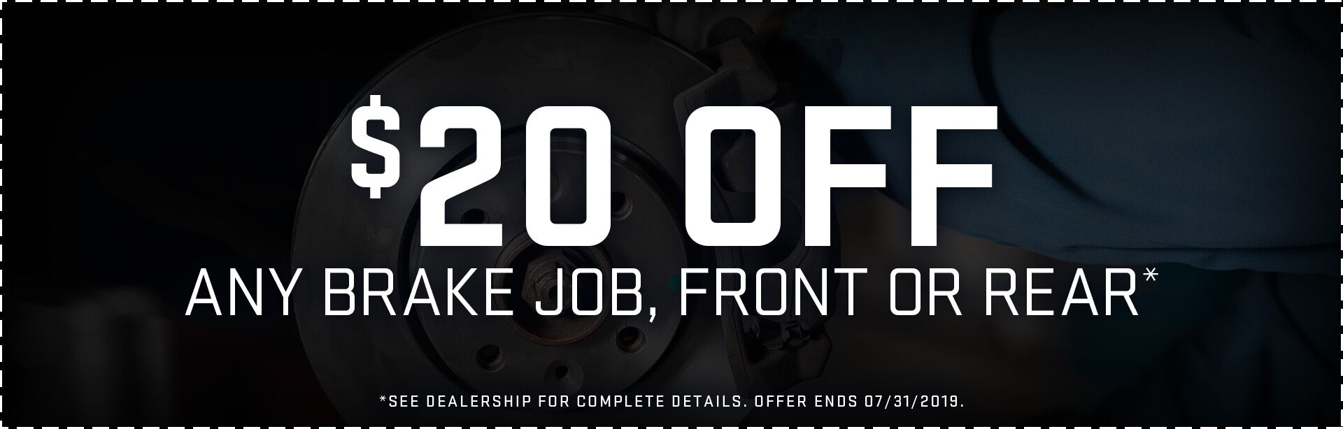 $20 Off Any Brake Job, Front or Rear