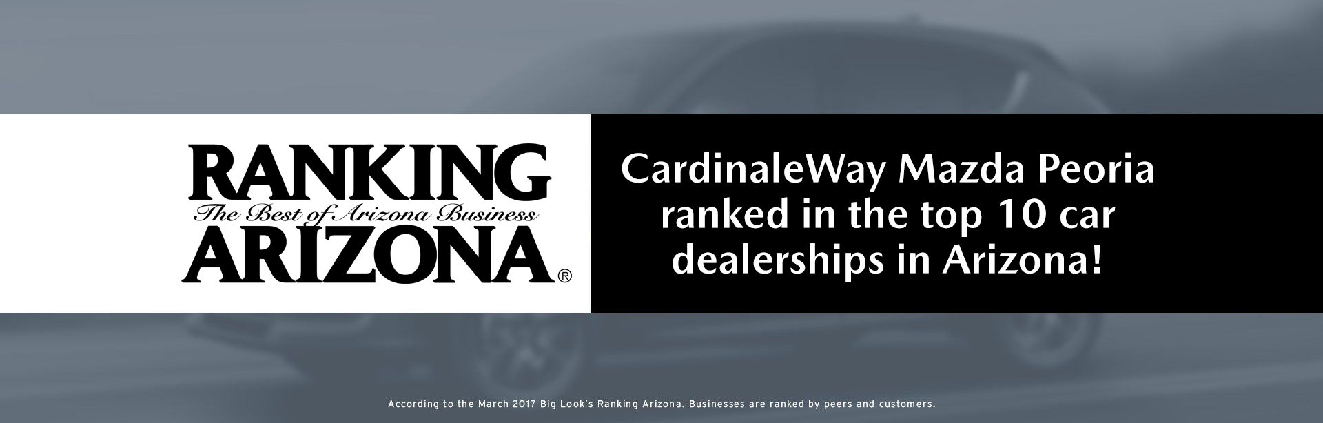 In Top 10 Car Dealerships in Arizona!
