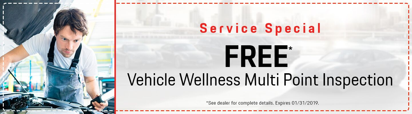 Free Vehicle Wellness Multi-Point Inspection