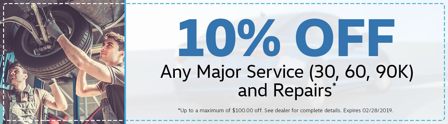 10% Off Any Major Service