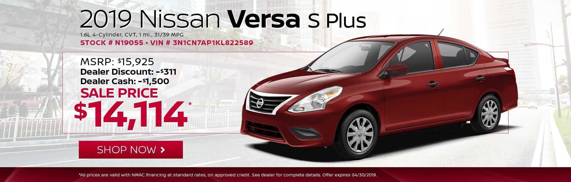 Nissan Versa S Plus We Cars