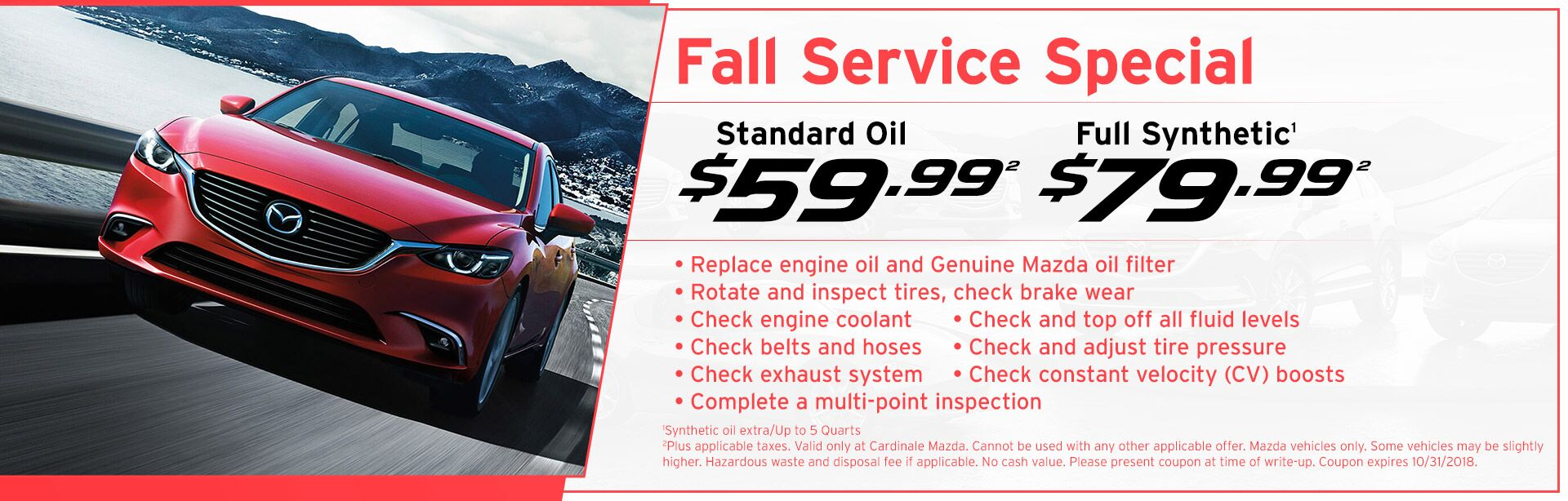 Fall Service Special