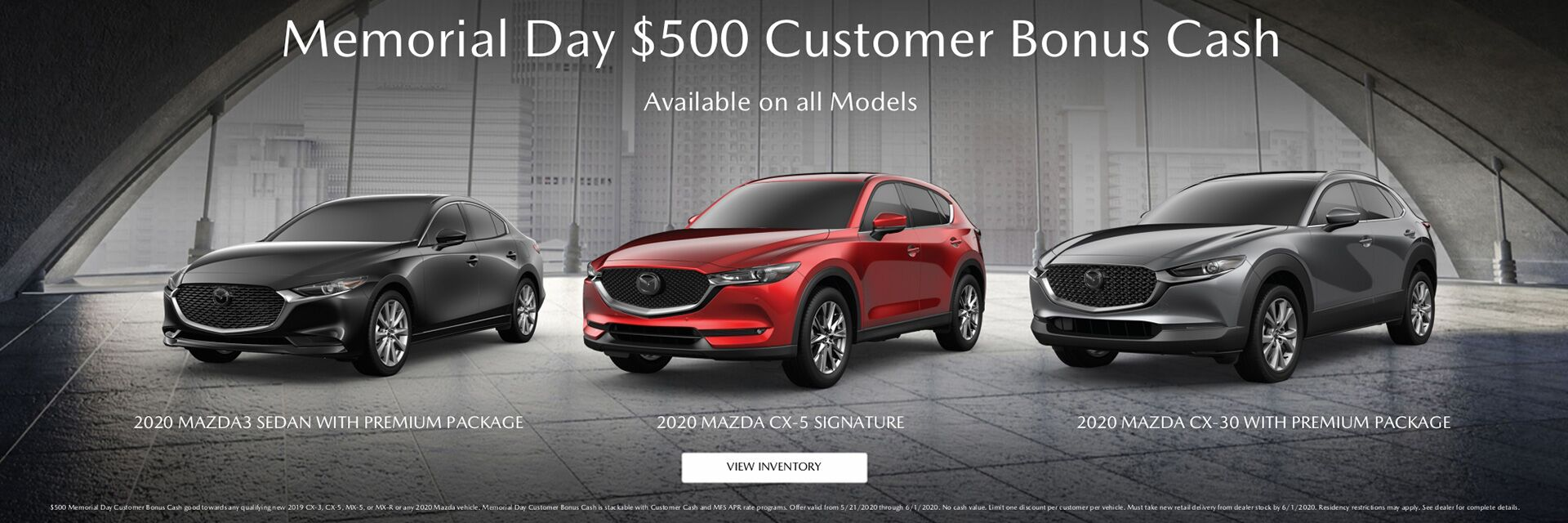 Memorial Day Bonus Cash (OEM Asset)
