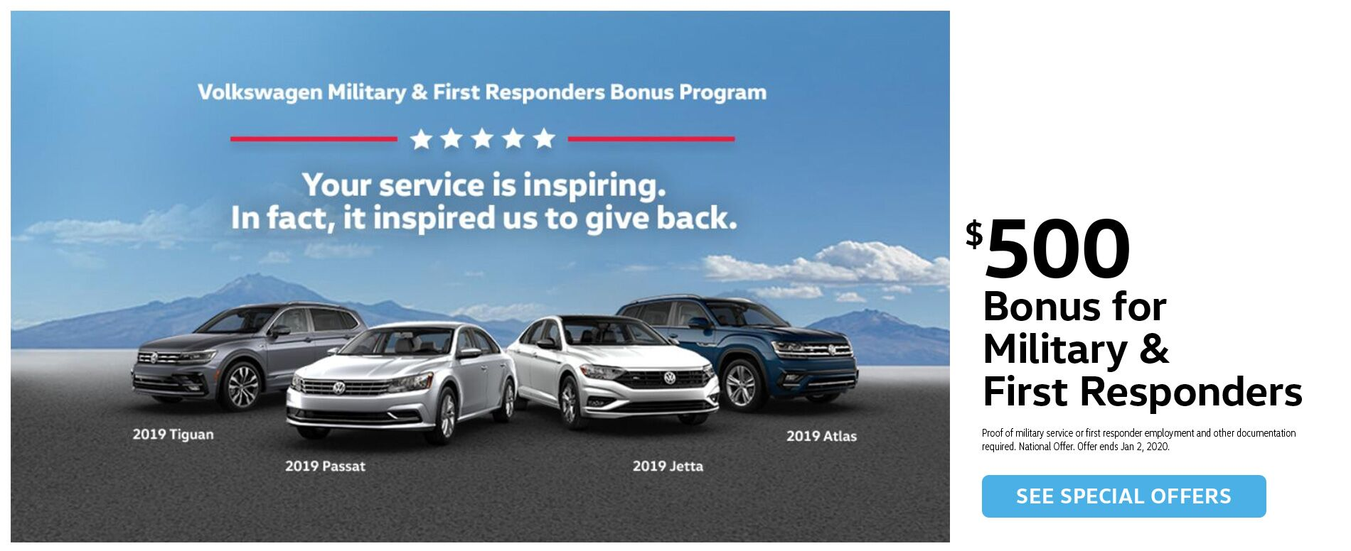 New Volkswagen Military Bonus