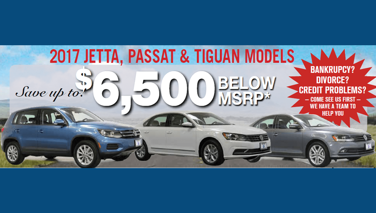 April 2017 Jetta Passat Tiguan Offers