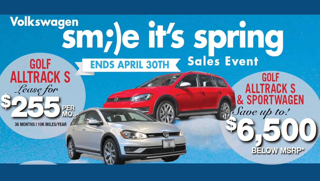 April Golf Alltrack SportWagen Offers