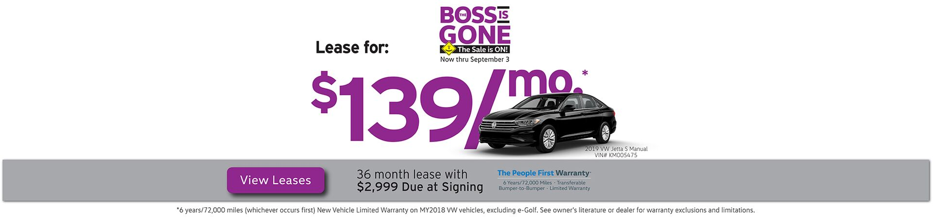 August Boss is Gone leases starting at $129/mo.