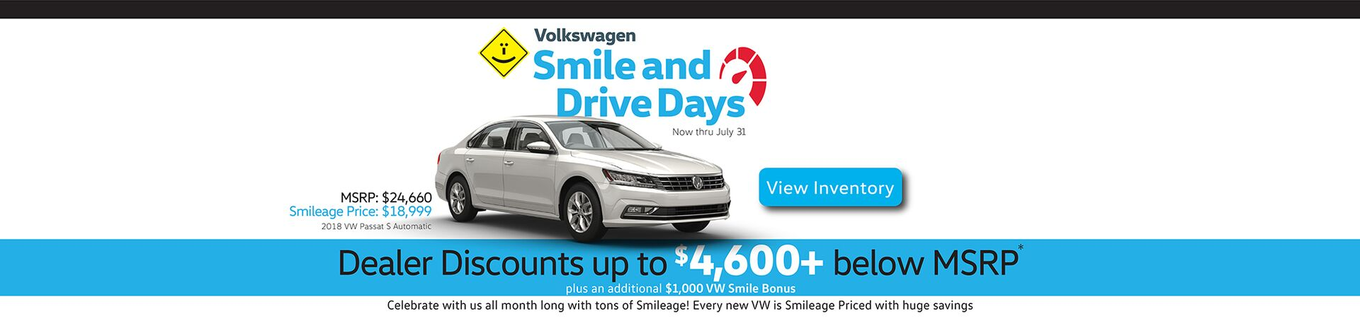 July Smile and Drive Days with discounts up to $5,600+ below MSRP