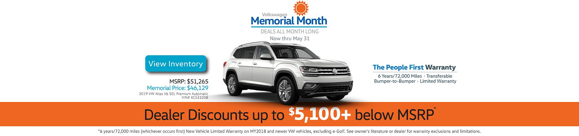 Capo VW Memorial Month - Discounts up to $5,100+ below MSRP now thru May 31st