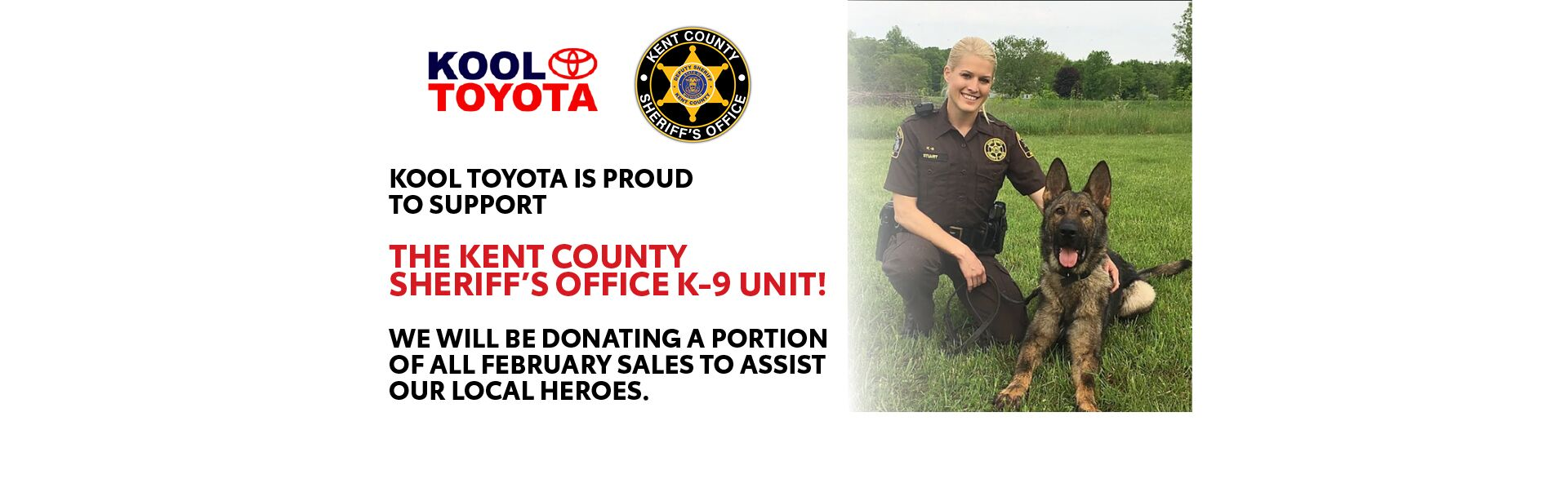 Support Kent County Sheriff's Office K-9 Unit