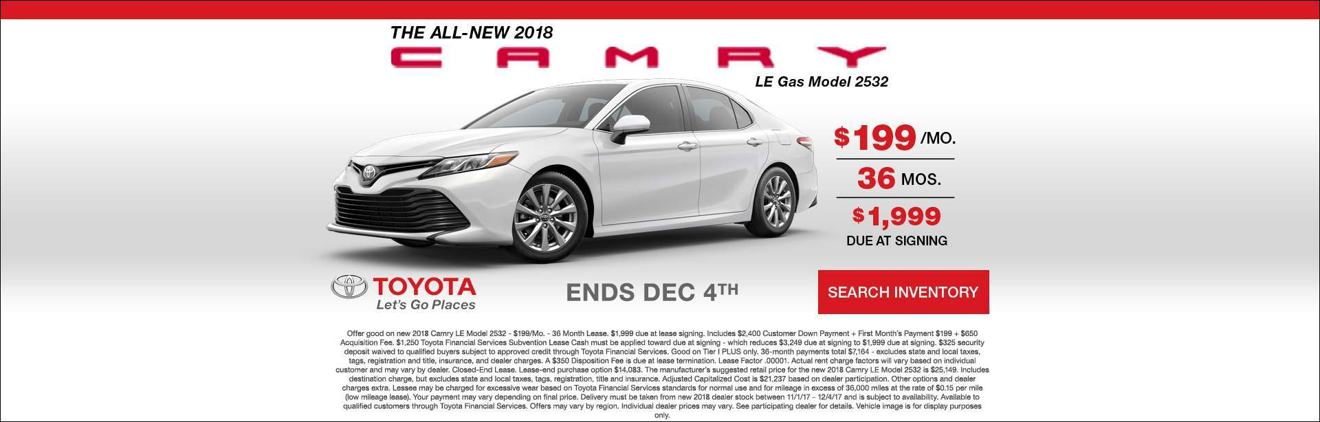 2018 Camry Let's Go Places