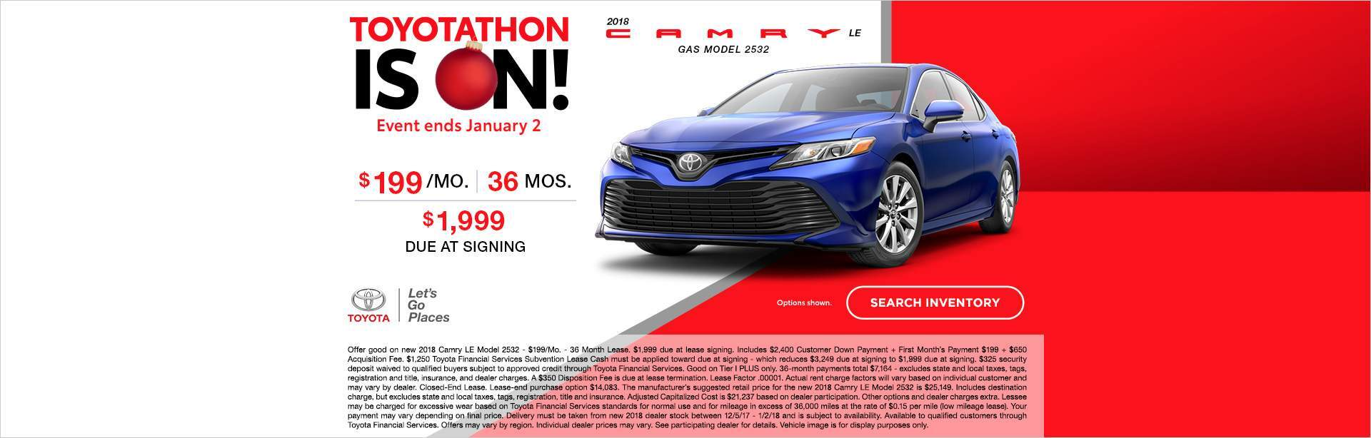 December-thon Camry Lease