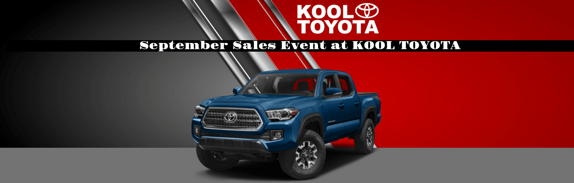September Sales Event at KOOL TOYOTA