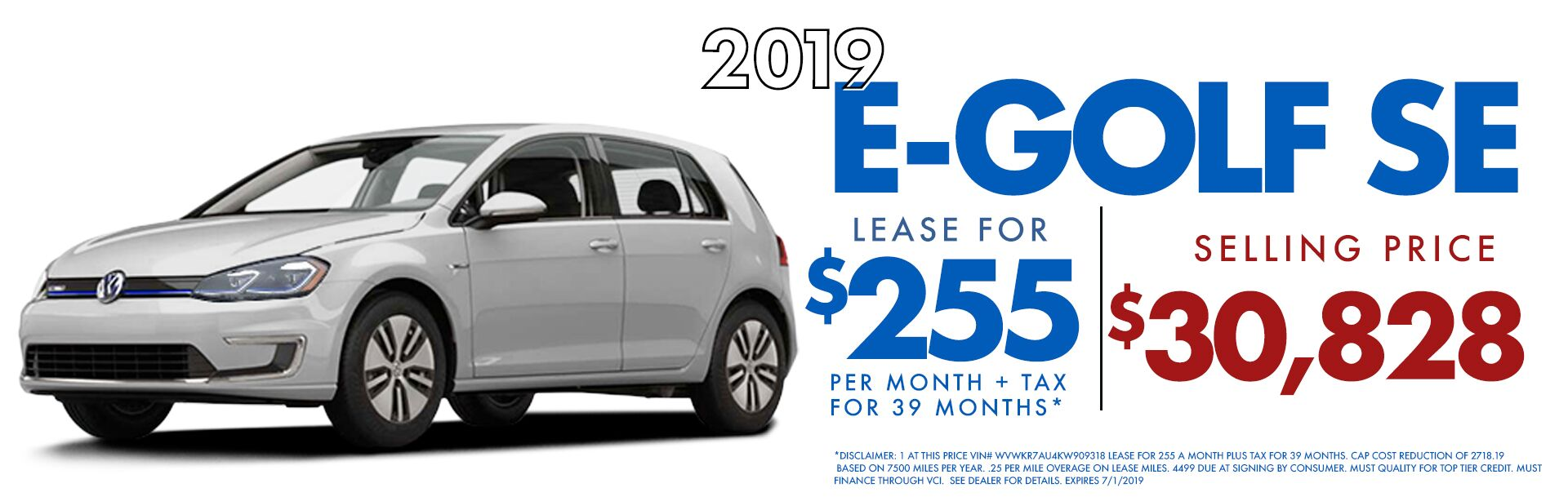 E Golf Lease Special June