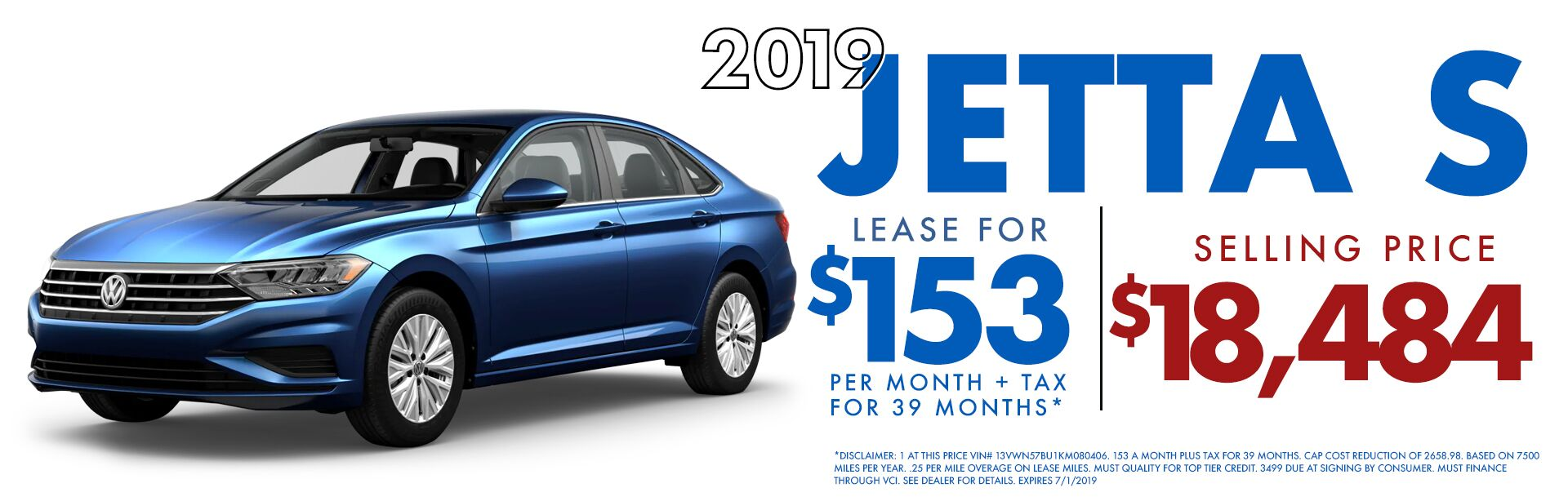 Jetta S Lease Special June