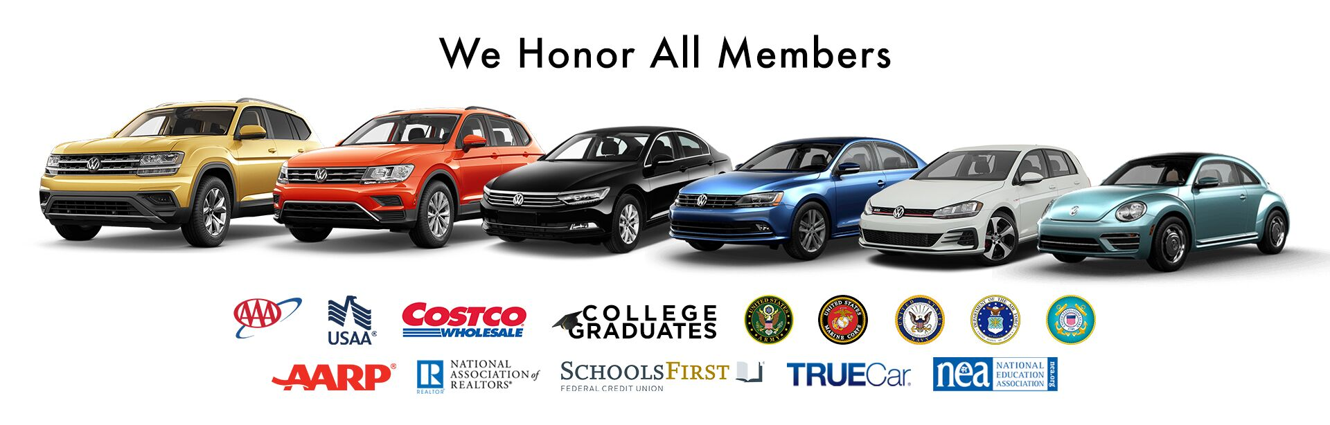 we honor all organizations