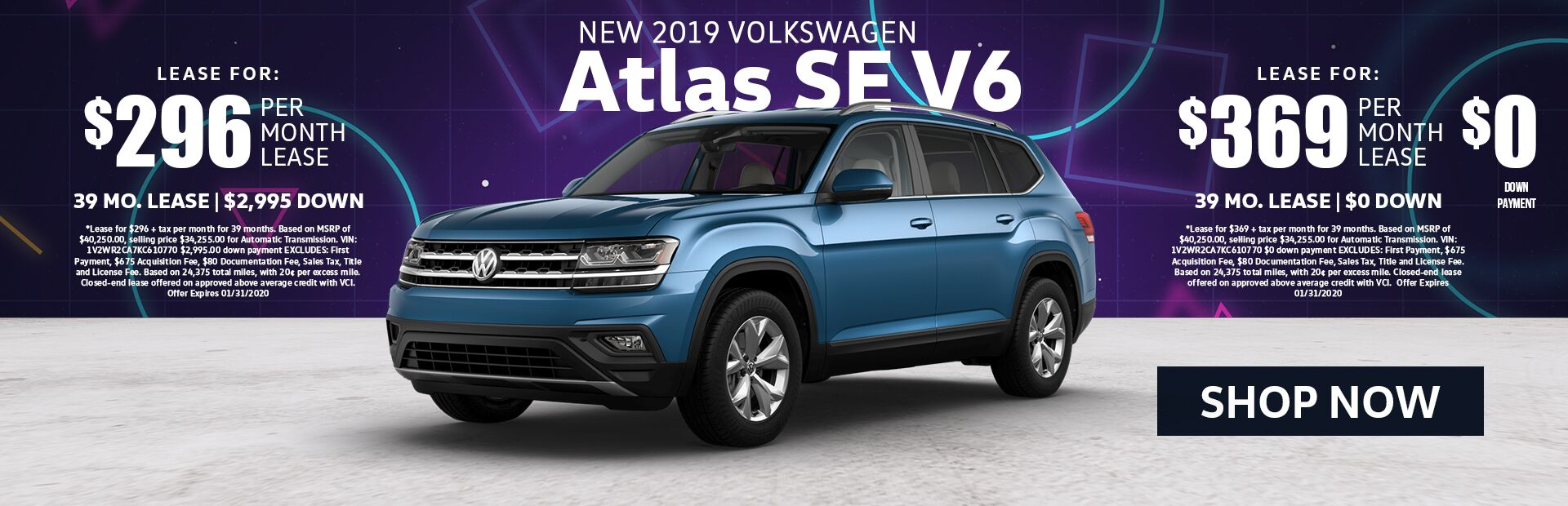 2019 VW Atlas Lease Special