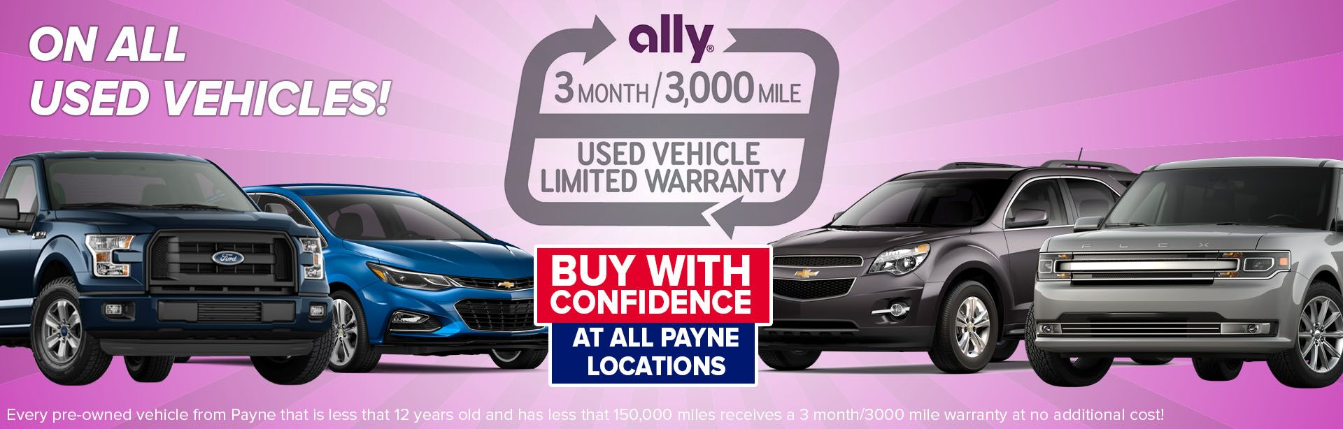 Ally 3 month 3,000 mile warranty