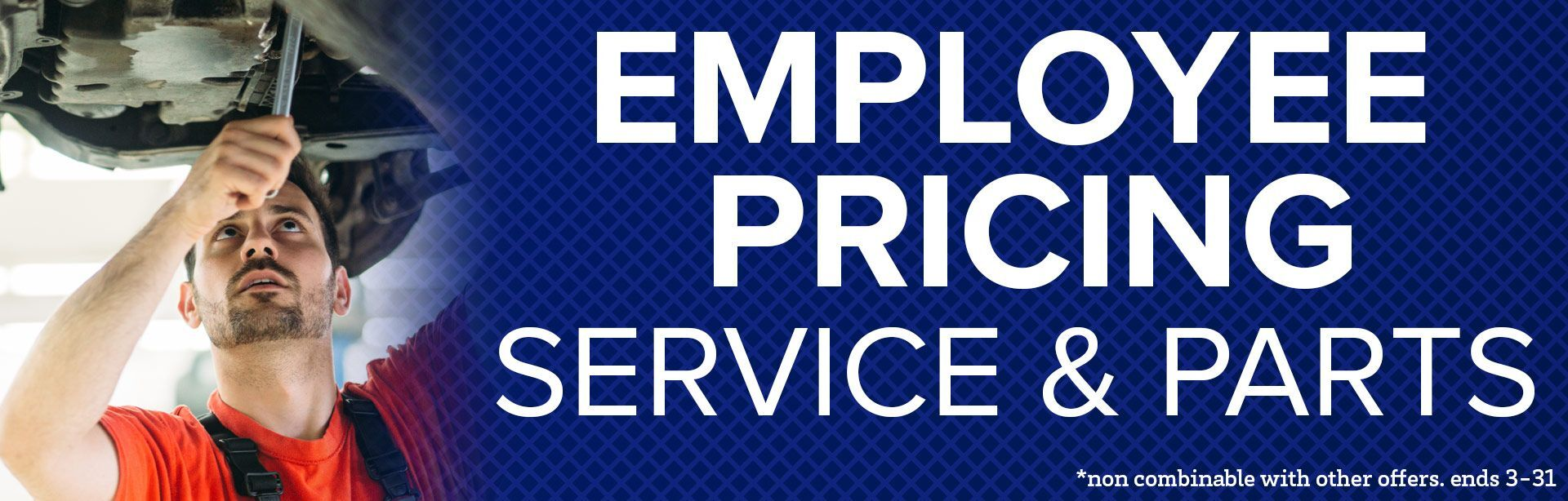 Employee Pricing Banner