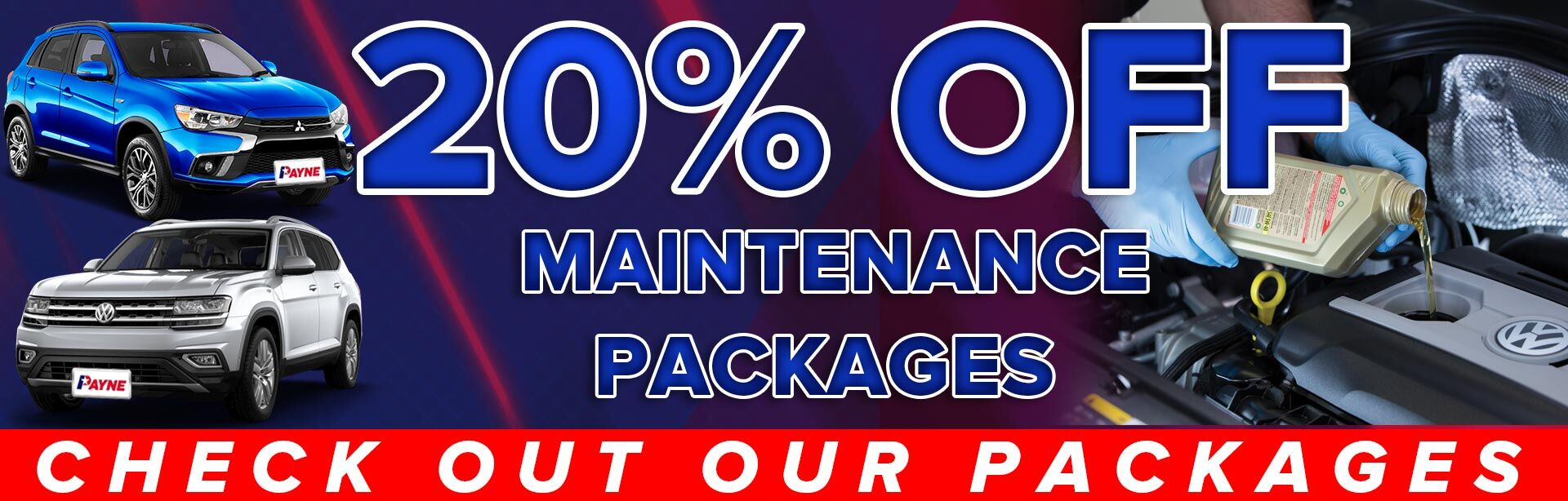 20% Off Maintenance Packages